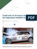Crash Test_ Os 10 Carros Campeões Em Segurança Vendidos No Brasil