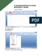 Mengatur Ukuran Kertas f4 Pada Microsoft Word Dan Excell