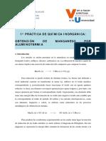 Quimica Inorganica Obtencion de Manganeso Por Aluminotermia