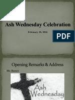 ash wednesday celebration-2016