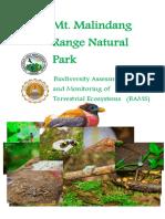 Biodiversity Assessment Research of Mt. Malindang.pdf