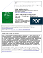 Self‐Acceptance and Behaviour Control in Creatively Gifted Young People