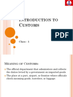 Customs Basic - 1
