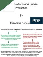 Natural Production vs Human Production