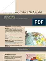 the process of the addie model storyboard  1
