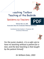 Teaching Toolbox Bedside