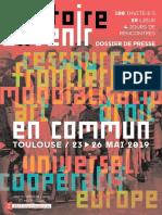 Histoire à Venir, festival Toulouse - Programme
