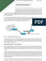 Firewall Evolution Deep Packet Inspection