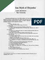 The Anatolian Myth of Illuyanka