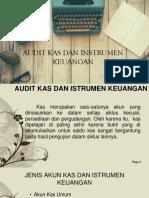 Audit Kas Dan Instrumen Keuangan