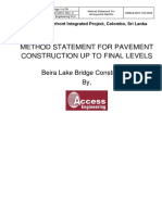 Method statement for road work