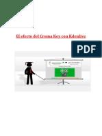 El Efecto Del Croma Key Con Kdenlive