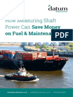 Measuring Shaft Power Saves Money on Fuel and Maintenance Datum Electronics