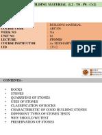 Lecture 3 - 23312 Stones