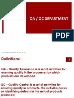 QA QC DEPT Introduction