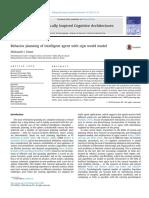 Behavior Planning of Intelligent Agent w 2017 Biologically Inspired Cognitiv