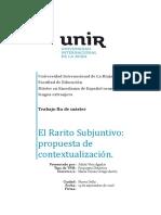 El Rarito Subjuntivo Propuesta de Contextualizacion Julian Vera Aguilar