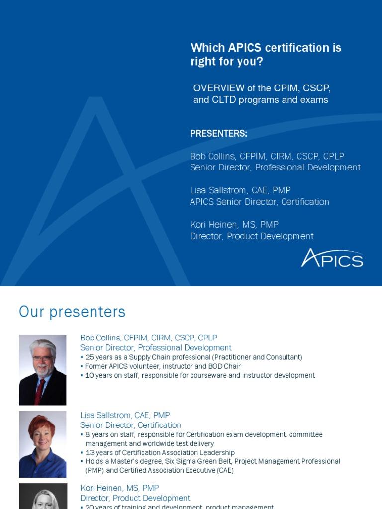 certification apics supply chain