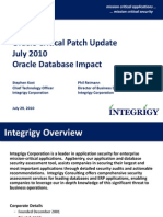 Integrigy Oracle CPU October 2010 Oracle Database Impact