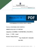 EIM_Programa Algebra 2014