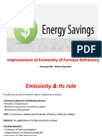 Improvement of Emissivity of Furnace Refractory