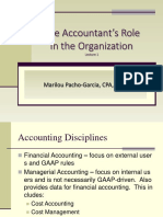 CHAP1 the Accountant's Role in the Organization