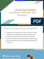 21st Century Music and Economy