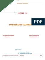 Maintenance Management 30