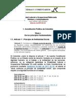 Estabilidad Laboral Reforzada 1.1. Constitucion Art. 1