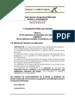 Estabilidad Laboral Reforzada 1.8. Constitucion Art. 68
