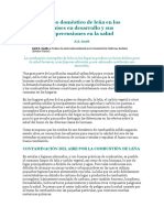 El Uso Doméstico de Leña en Los Países en Desarrollo y Sus Repercusiones en La Salud
