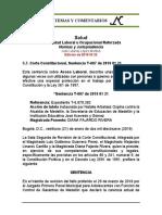 Estabilidad Laboral Reforzada 5.7. T-007 2019 01 21 Acoso Laboral
