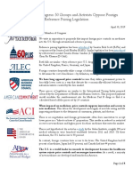 4-30-19 - Coalition Letter in Opposition to Foreign Reference Pricing Legislation