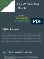 Kerangka Proposal Penawaran Produk
