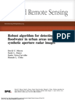 Robust algorithm for detecting floodwater in urban areas using synthetic aperture radar images