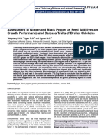 Assessment of Ginger and Black Pepper as Feed Additives on Growth Performance and Carcass Traits of Broiler Chickens