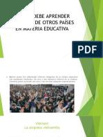 Lo Que Debe Aprender Colombia de Otros Países
