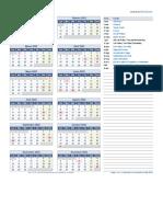 Calendario 2022 Una Pagina