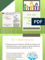 Ley Del Lenguaje de Señas Peruano