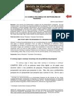 Revista Fundarte E COMEÇA AQUI O COMEÇO RECOMEÇO DE UM PROBLEMA DE PESQUISA