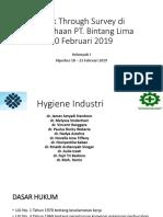 Walk Through Survey Di Perusahaan PT Grup Hygiene