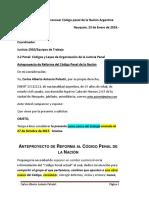 Proyecto Renovar Código Penal de La Nación Argentina.2018