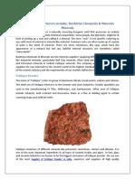 Minerals Manufacturers in India