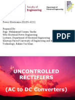 Power Electronics, Uncontrolled Rectifier.