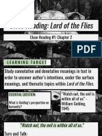 close reading lord of the flies