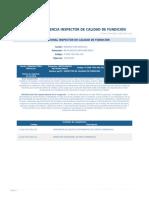 Perfil Competencia Inspector de Calidad de Fundicion