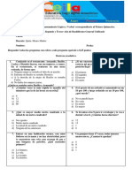 Cuestionario #1. 3ro BGU  Razonamiento