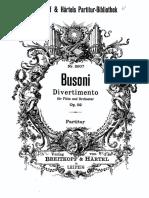 Busoni - 52 - Divertimento