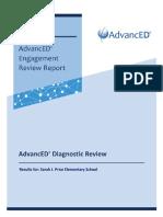 2018-19 Sarah J Price Elementary Diagnostic Review