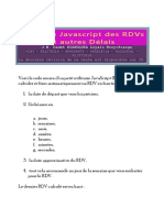 Utilitaire Javascript Des RDVs Et Autres Délais